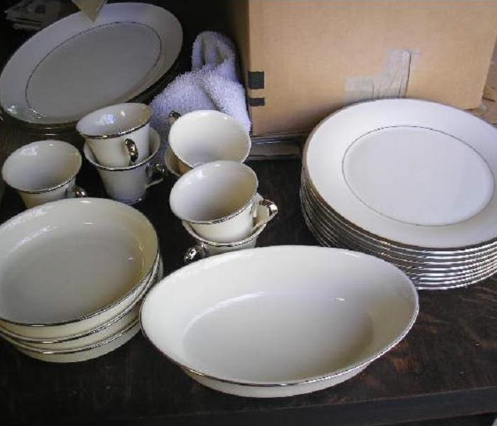 China Dishes stacked and cleaned
